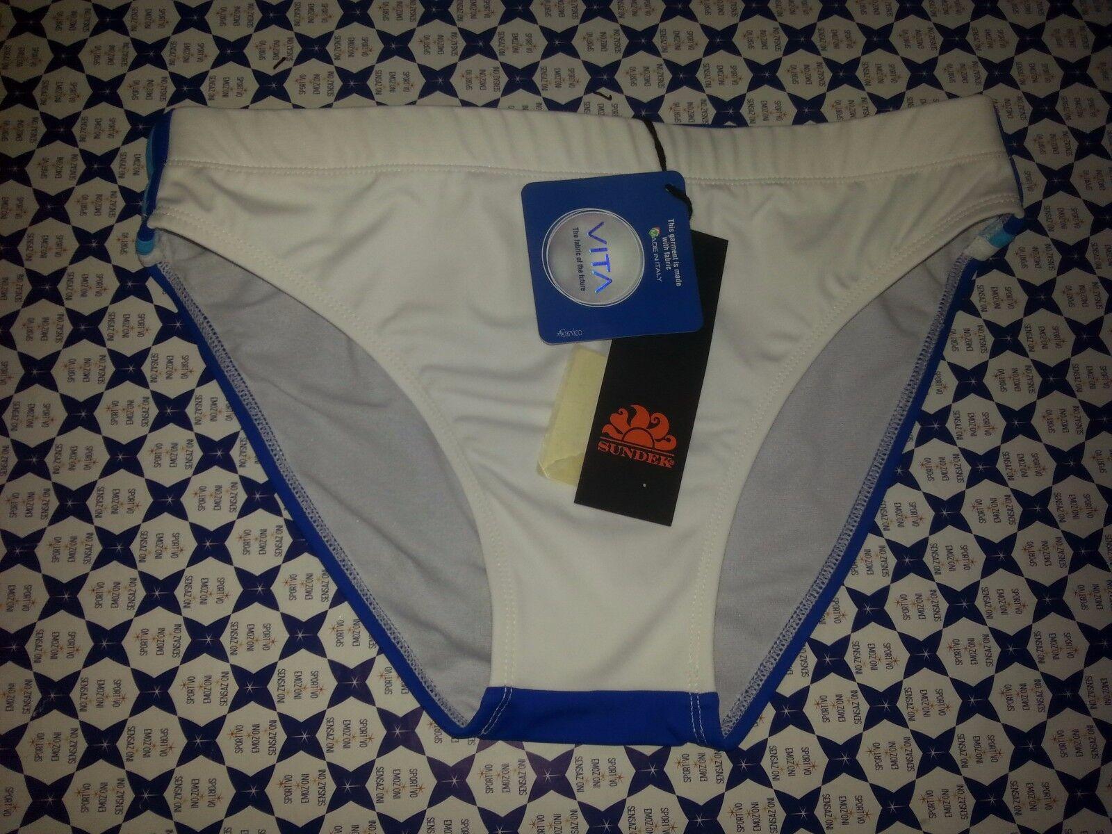 Costume Slip SUNDEK - Oklahoma Azzurro Bianco  -Mare Piscina - M249SSL 115