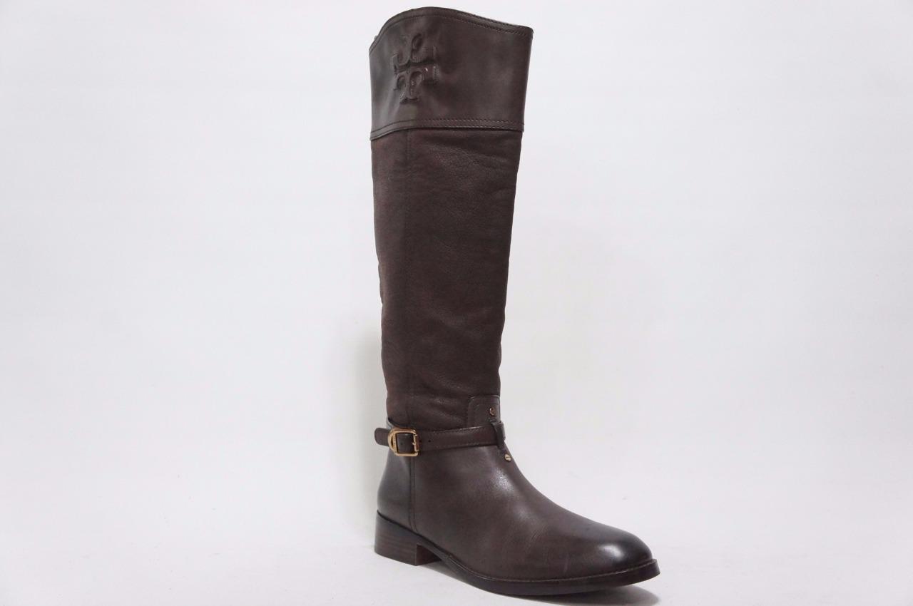 Tory Burch Simone cavalières cuir cuir cuir marron bottes chaussures 8.5 495   4232d0