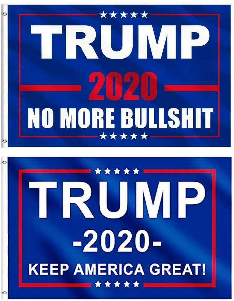 x 5 ft. President Donald Trump NO MORE BULLSHIT Flag Indoor//Outdoor 3 ft