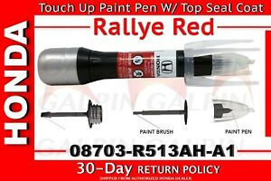 genuine oem honda touch up paint pen r 513 rallye red ebay. Black Bedroom Furniture Sets. Home Design Ideas