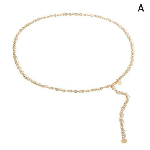 Dünne Kette Frauen Kleid Gold Silber Farben Körper Gürtel Körperschmuck D9P3