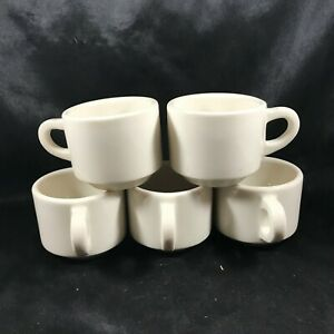 Set of 5 Vintage BUFFALO CHINA Restaurant Ware Coffee Cups ...