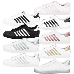 K-Swiss-Belmont-pour-WOMEN-Chaussures-Femmes-Loisirs-Sneaker-Chaussures-De-Sport-Baskets-93324