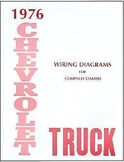 1976  76     CHEVROLET TRUCK WIRING   MANUAL