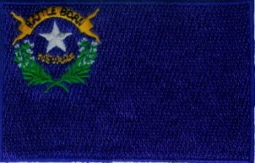 """3 Pcs Nevada USA State Flag Embroidered Patches 3.5/""""x2.25/"""" iron-on"""