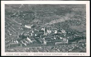 ROCHESTER-NY-Eastman-Kodak-Company-Park-Works-Vtg-RPPC-Postcard-Factory-Photo-PC
