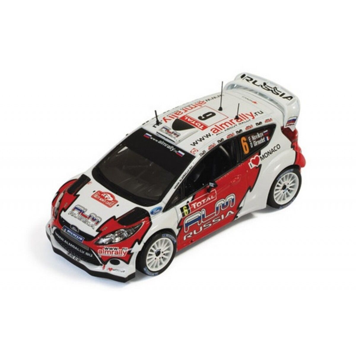 FORD FIESTA RS WRC  6 NOVIKOV GIRAUDET RALLYE MONTE CARLO 2012 IXO RAM494 1 43