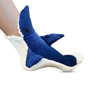 Shark Attack Crew Socks Soft Handmade Great White Novelty Eat Foot Shark Week