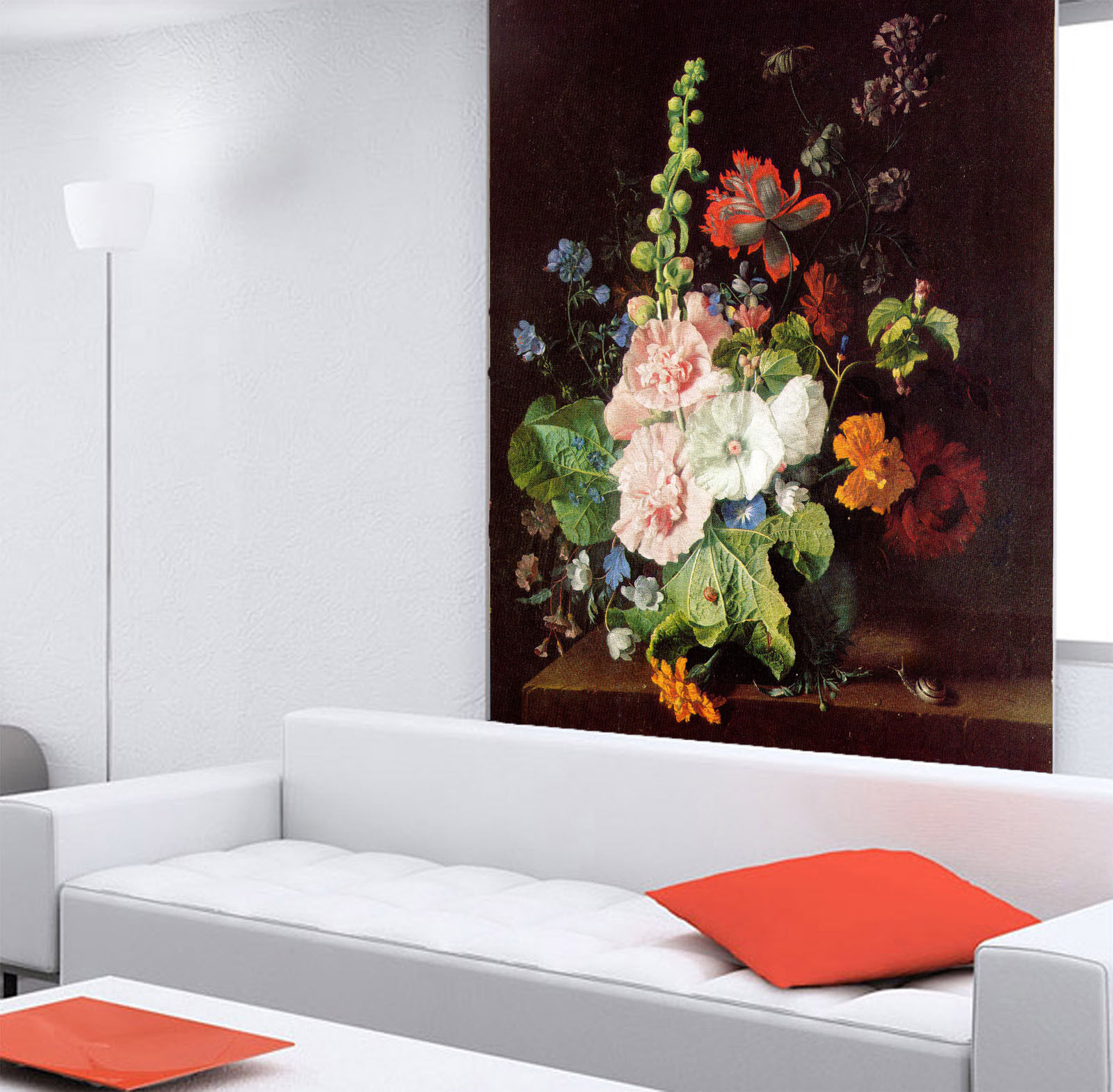 3D Vase Various Flowers Wall Paper Wall Print Decal Wall Deco Wall Indoor Murals