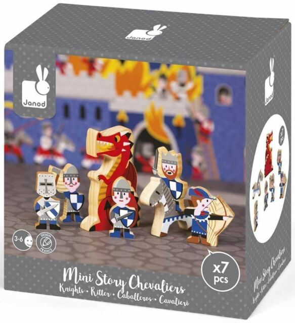 Janod MINI STORY CIRCUS Wooden Toy Box Set Toddler//Child Figures BN