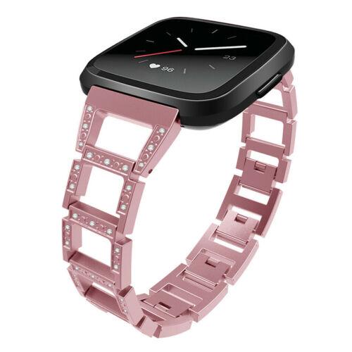 Bling Bands Strap Women Rhinestone Wristband For Fitbit Versa// Versa 2//Lite /& SE
