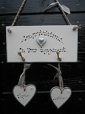 plaque ❤️*New* Personalised Wedding Countdown sign Mr /& Mrs❤️ Engagement gift