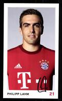 Philipp Lahm Autogrammkarte Bayern München 2015-16 Original Signiert+ C 2275