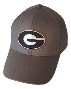 wholesale dealer 01b60 3df97 Image is loading Georgia-Bulldogs-Adjustable-Cap-Gray-Hat-NCAA