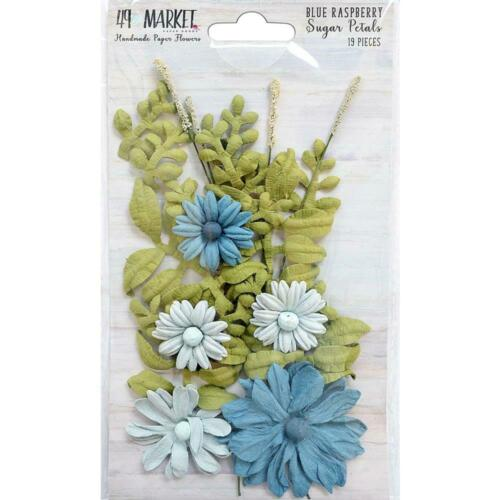 49 And Market /'SUGAR PETALS/' 19pc Flowers Choose from 4 Card Making//Craft