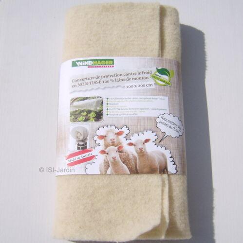 100g//m² Protection en laine de mouton 1m x 2m