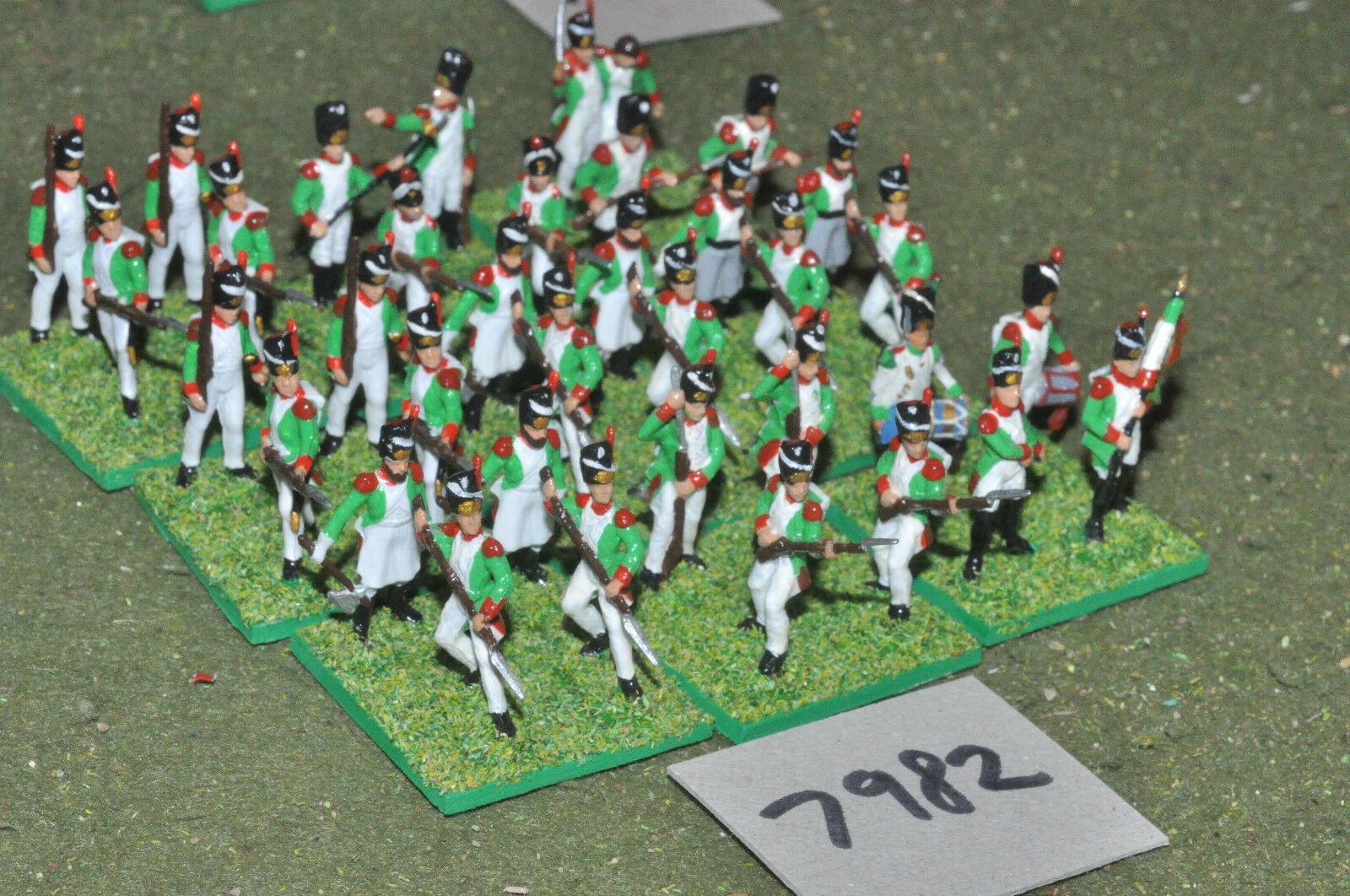 20mm napoleonic   italian - infantry plastic 36 figs painted - inf (7982)