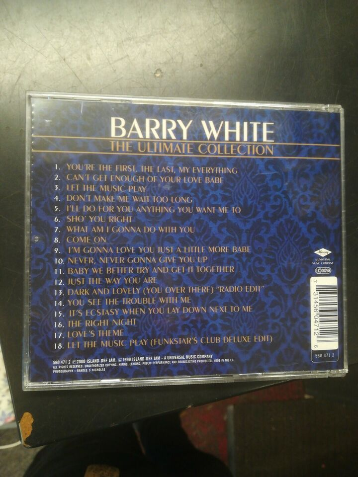 Barry White : the ultimate collection , pop