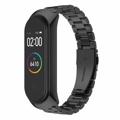 4 Armband Uhrenarmband Edelstahl Leder Ersatz Uhr Band Für Xiaomi Mi Band 3