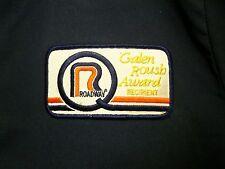 ROADWAY vtg lrg trucking jacket Akron patch OH beat-up coat Viking Freight award