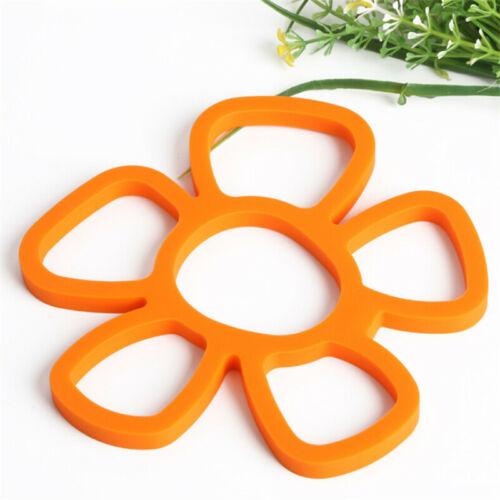 Flower Silicone Trivet Table Heat Resistant Mat Coaster Cup Pot Cushion Placemat