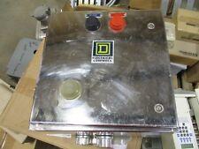 Square D 8536sbw12 Size 1 Starter 600 Volt 120v Coil Nema 4x Enclosure S231