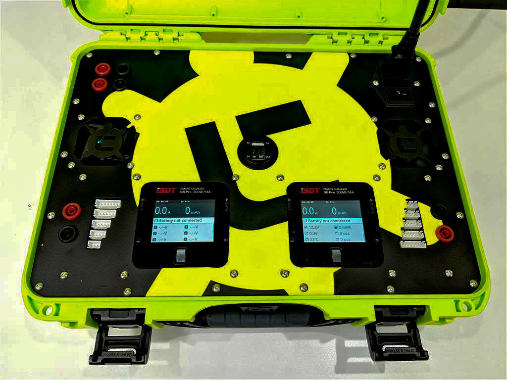 Nanuk 910 ISDT Q6 Dual Portable Field Charging Station Case PLATE KIT RC Charger
