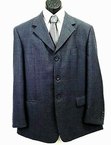 Pronto Uomo Jacket Men Classic Blazer Suit Size 44R Long Three buttons Gray coat