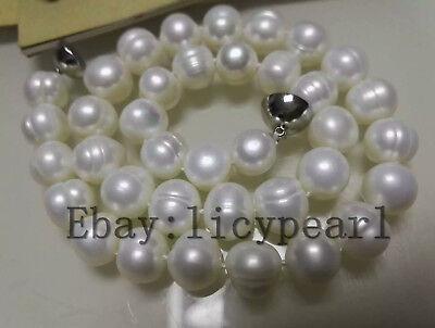16-60 inches echtes kultiviertes 9-10mm weiß Süßwasser Perle Halskette