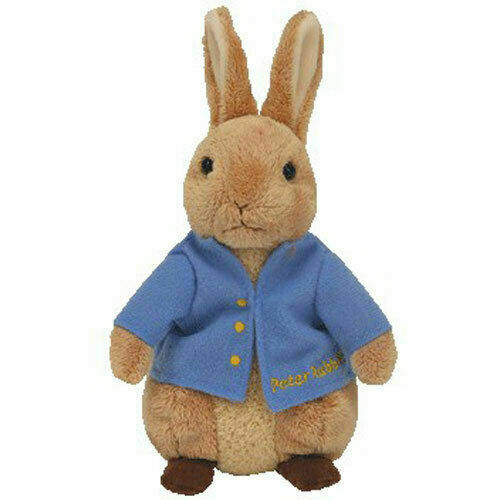 MINT TAGS BLUE LETTERING - BEATRIX POTTER UK EXCL Ty MR TOD Beanie Baby