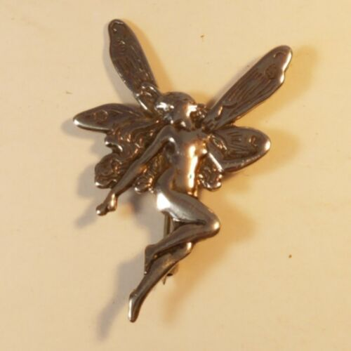 Sterling Fairy Pixie Brooch Silver Shube Dakota W… - image 1