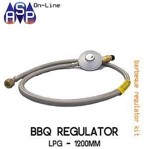 BBQ-GAS-REGULATOR-amp-HOSE-3-8-034-SAE-FEMALE-FLARE-1200MM-LPG