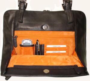 Leder-Arbeitstasche-GLASGOW-Schwarz-A4-Ordner-Akten-Tasche-Shopper-Business