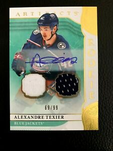 2019-20 Artifacts Autograph Materials Gold #171 Alexandre Texier/99