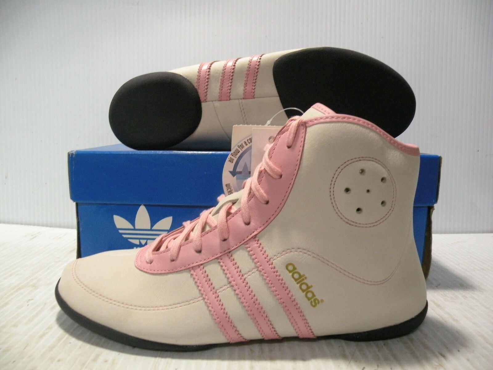 ADIDAS MARY JANE MID SNEAKERS WOMEN SHOES WHITE PINK 549437 SIZE 8.5 NEW