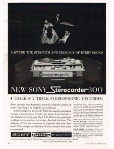 Advertising 1964 Sony Sterecorder Reel-to-reel Tape Deck Vtg Print Ad 1960-69