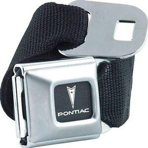 Pontiac-Logo-Licensed-Seat-Belt-Design-Belt-Buckle-Combo-for-Pants