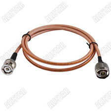 N type male plug to BNC plug connector adapter RF pigtail Coaxial cable RG400 1M