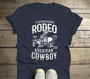 bfb6453d8 Men's Rodeo T Shirt American Cowboy Shirts Western Graphic Tee ...