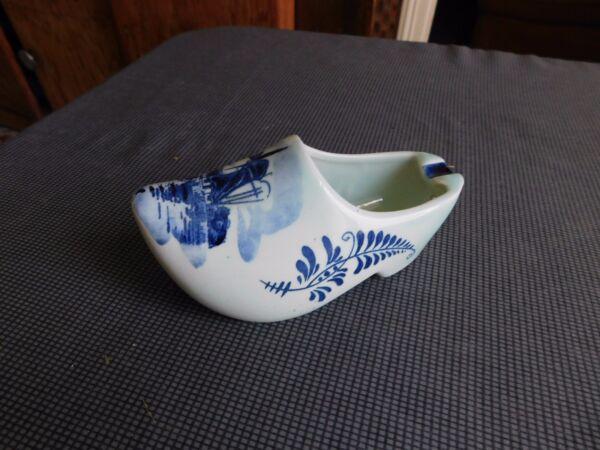 Nuova Moda Scarpe Zoccolo Ceramica Delft - Posacenere Decoro Mulino Rendere Le Cose Convenienti Per I Clienti