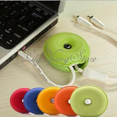 4X Smart Turtle Cord Cable Organizer Wrap Wire Winder Earphone Headphone Holder