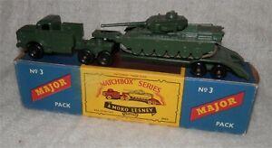 Army Matchbox Lesney Major Pack .3 Antar. Transporteur & Centurion Tank. Comme Neuf In Box-ter & Centurion Tank.mint In Box Fr-fr Afficher Le Titre D'origine