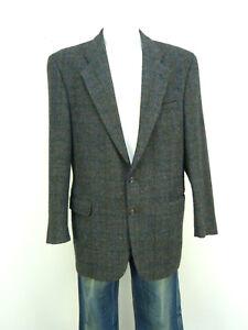Harris-Tweed-Mens-Jacket-Jacket-Size-48-de-Green-Check-WINTERWARM-R-3628-R
