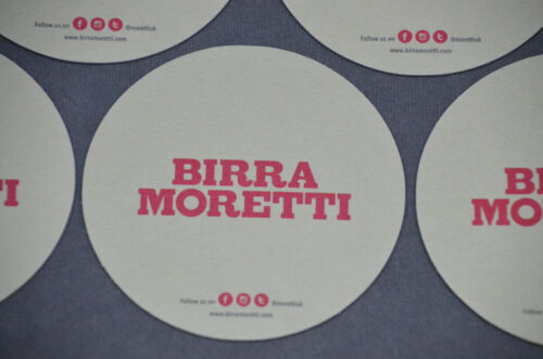 5x Birra Moretti L/'Autentica Cardboard Beer Mat Coaster Brand New Set Free P/&P