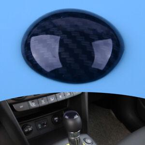 Auto-Kohlefaser-Schaltknauf-Kopf-Dekor-Abdeckung-Fuer-Hyundai-Kona-Encino-2018