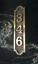 Custom Industrial Brass Address Plaque Vertical Palmer Arch Traditional