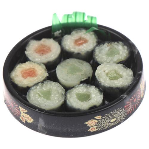 2pc 1:6 Scale Dollhouse Miniature Sushi Rice For Dollhouse Decor Pretend F ZQ
