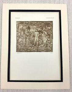 1927-Antico-Stampa-Il-Battesimo-di-Cristo-Gesu-Tessuta-Arazzo-Dutch-Flemish-Art
