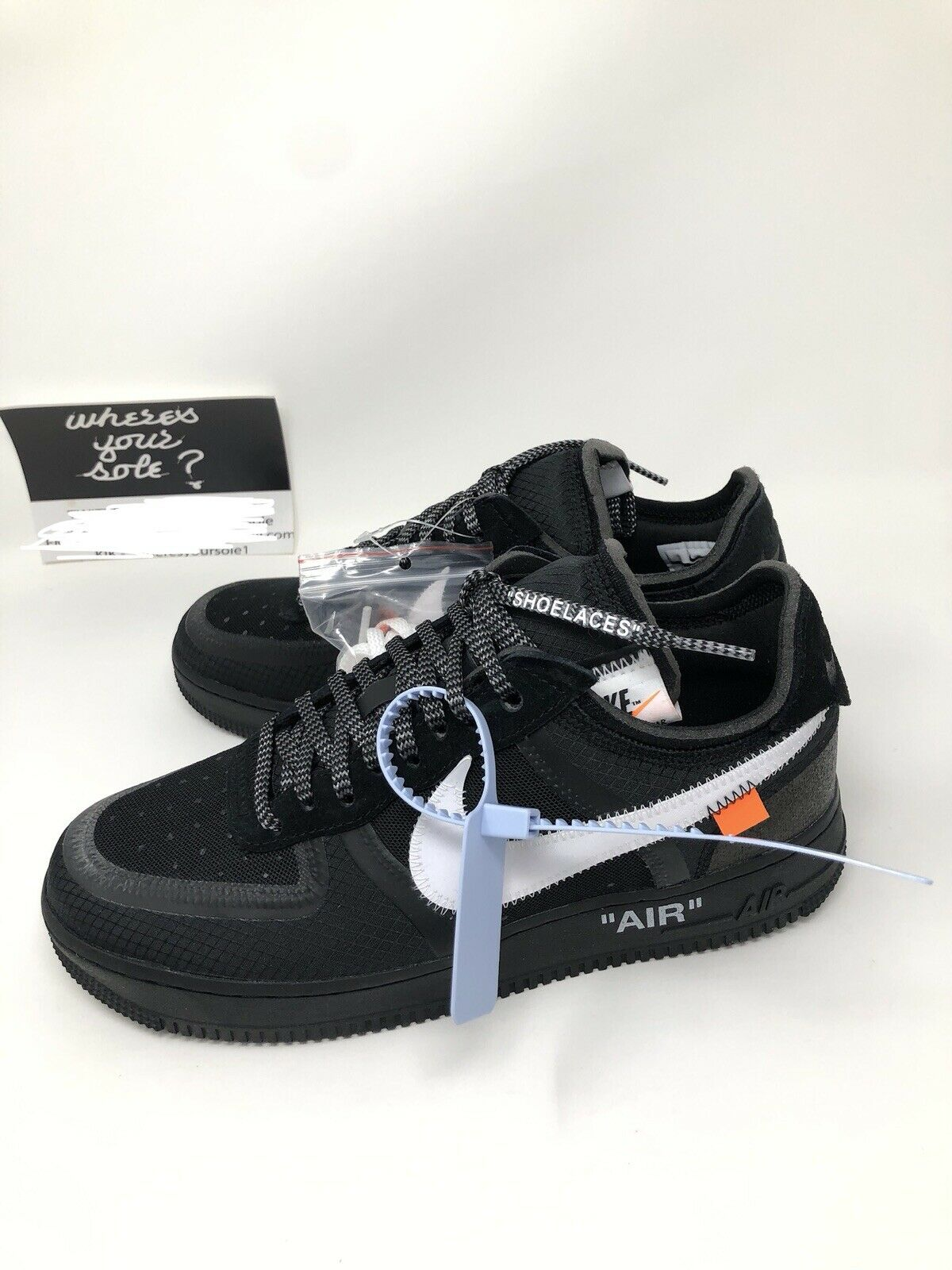Nike Off White The Ten  Air Force 1 Low Black size 8 New DS A04606-001 Virgil