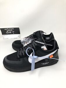 714795b084 Nike Off White The Ten: Air Force 1 Low Black size 8 New DS A04606 ...
